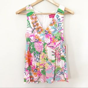 NWT Lilly Pulitzer for Target Nosy Posey Tank Top